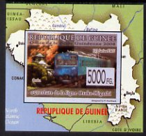 Guinea - Conakry 2009 Opening of Saka Higashi Line individual imperf deluxe sheet #3 unmounted mint. Note this item is privately produced and is offered purely on its thematic appeal