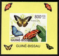 Guinea - Bissau 2009 Butterflies individual imperf deluxe sheet #1 unmounted mint. Note this item is privately produced and is offered purely on its thematic appeal