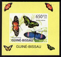 Guinea - Bissau 2009 Butterflies individual imperf deluxe sheet #3 unmounted mint. Note this item is privately produced and is offered purely on its thematic appeal