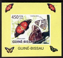 Guinea - Bissau 2009 Butterflies individual imperf deluxe sheet #4 unmounted mint. Note this item is privately produced and is offered purely on its thematic appeal                                                                                                                                                                                                                                                                                                                                                                                                                                                                                                                                                                                                                                                                                                                                                                                                                                                                                                   , stamps on butterflies