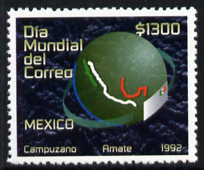 Mexico 1992 World Post Day unmounted mint, SG 2095