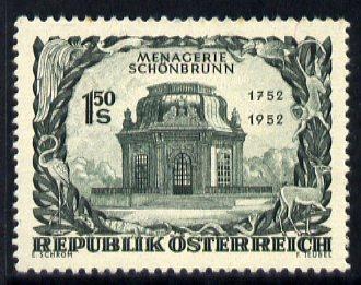 Austria 1952 Bicent of Schonbrunn Menagerie unmounted mint, SG 1237