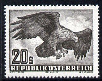 Austria 1950-53 Birds 20s Golden Eagle unmounted mint, SG 1221
