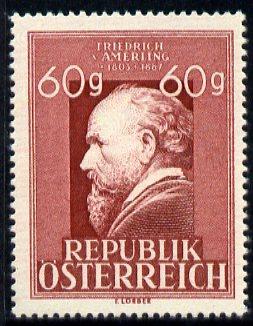 Austria 1947 Friedrich Amerling - painter 60g (from Famous Austrians set) unmounted mint, SG 1007