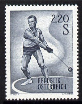 Austria 1959 Hammer Thrower 2s 20 unmounted mint from Sports set, SG 1349