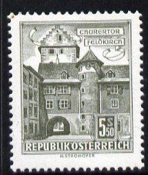 Austria 1957-70 Chur Gate, Feldkirch 5s 50 from Buildings def set unmounted mint, SG 1318