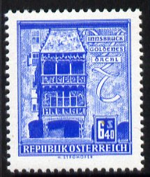 Austria 1957-70 Golden Roof, Innsbruck 6s 40 from Buildings def set unmounted mint, SG 1320, stamps on architecture