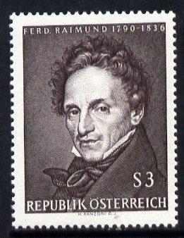 Austria 1965 175th Birth Anniversary of Ferdinand Raimund (actor & playwright) unmounted mint, SG 1446