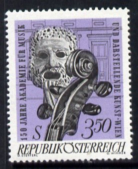 Austria 1967 150th Anniversary of Academy of Music and Dramatic Art unmounted mint, SG 1513