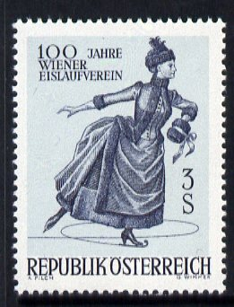 Austria 1967 Centenary of Vienna Skating Association unmounted mint, SG 1493
