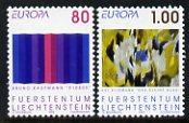 Liechtenstein 1993 Europa - Contemporary Art set of 2 unmounted mint SG 1049-50