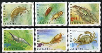 Bulgaria 1996 Aquatic Life perf set of 6 unmounted mint SG 4093-98, stamps on marine life, stamps on crabs, stamps on crawfish