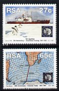 South Africa 1991 Antarctic Treaty set of 2 unmounted mint SG 740-1