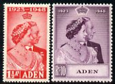 Aden 1949 KG6 Royal Silver Wedding set of 2 mounted mint SG 30-1