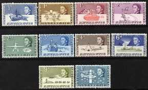 British Antarctic Territory 1963-69 first definitives short set to 1s very lightly mounted mint, 10 values SG 1-10