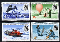 British Antarctic Territory 1969 25th Anniversary of Continuous Scientific Work set of 4 very lightly mounted mint, SG 20-23