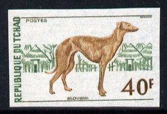 Chad 1972 Saluki Hound 40f IMPERF, unmounted mint, as SG 379