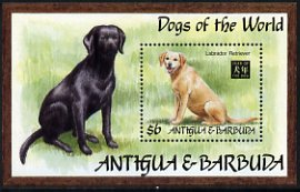 Antigua 1994 Dogs of the World Labrador Retriever $6 m/sheet unmounted mint, MS1947b