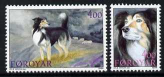 Faroe Islands 1994 Sheepdogs set of 2 unmounted mint, SG 258-59