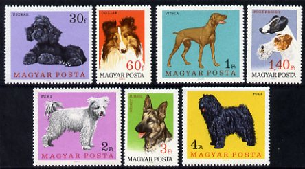 Hungary 1967 Dogs perf set of 7 unmounted mint, SG 2289-95