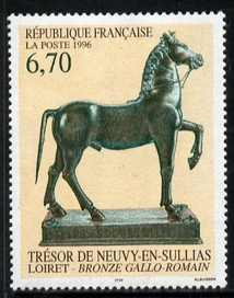 France 1996 Bronze Horse sculpture 6.70f from Art set of 3, unmounted mint, SG3307