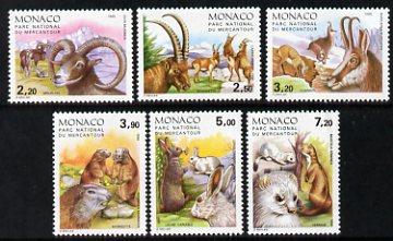 Monaco 1986 Mammals in Mercantour National Park set of 6 unmounted mint, SG 1772-77