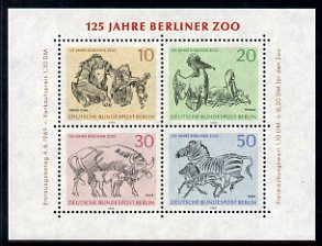 Germany - West Berlin 1969 125th Anniversary of Berlin Zoo sheetlet of 4 unmounted mint, SG MS B332