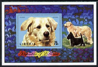 Liberia 1974 Dogs (Kuvasz) 75c miniature sheet unmounted mint, SG 1200 (Mi Bl 71A)