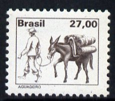 Brazil 1976 Muleteer 27cr brown from def set, unmounted mint SG1612
