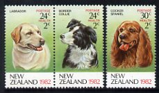 New Zealand 1982 Health - Dogs set of 3 unmounted mint, SG 1270-72