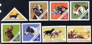 Rumania 1965 Hunting Dogs set unmounted mint, SG 3337-44