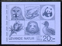 Booklet - Sweden 1985 Nature 20k booklet complete and pristine, SG SB378