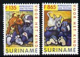 Surinam 1996 Child Welfare - Paintings by Jan Telting - set of 2 unmounted mint, SG 1696-97
