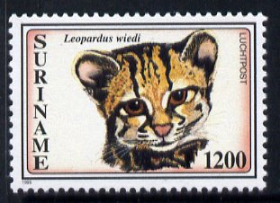 Surinam 1995 Tree Ocelot 1200g from Big Cats set, unmounted mint, SG 1636