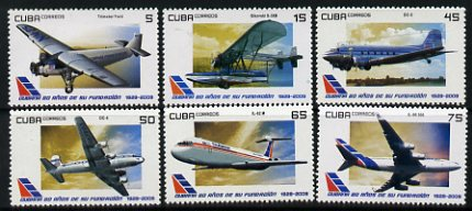Cuba 2009 Aviation perf set of 6 unmounted mint