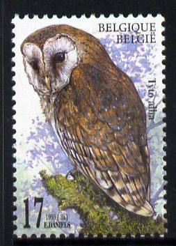 Belgium 1999 Barn Owl (Tyto alba) 17f unmounted mint SG 3477