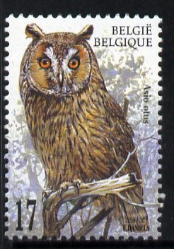 Belgium 1999 Long-Eared Owl (Asio otus) 17f unmounted mint SG 3480