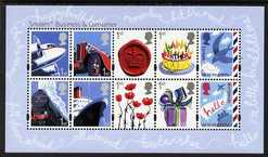Great Britain 2010 Smilers perf m/sheet unmounted mint