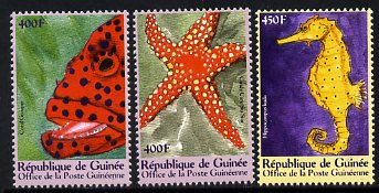 Guinea - Conakry 2000 Marine Life perf set of 3 unmounted mint. Note this item is privately produced and is offered purely on its thematic appeal