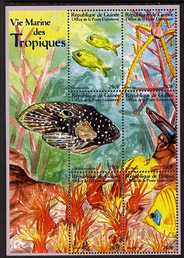 Guinea - Conakry 2000 Marine Life perf sheetlet #1 containing 6 values unmounted mint. Note this item is privately produced and is offered purely on its thematic appeal