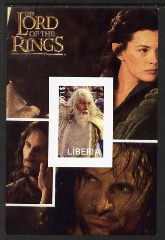 Liberia 2003 Lord of the Rings #6 imperf s/sheet unmounted mint