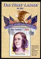 Gambia 2007 The First Ladies of USA - Priscilla Tyler perf m/sheet unmounted mint SG MS 5098o