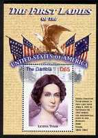Gambia 2007 The First Ladies of USA - Letitia Tyler perf m/sheet unmounted mint SG MS 5098m