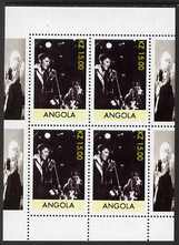 Angola 1999 Elvis Presley perf sheetlet containing 4 values with Marilyn in margins, unmounted mint. Note this item is privately produced and is offered purely on its the...