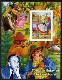 Benin 2003 75th Birthday of Mickey Mouse - Little Red Riding Hood #05 (also shows Elvis & Walt Disney) imperf m/sheet unmounted mint. Note this item is privately produced and is offered purely on its thematic appeal