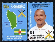 Dominica 2007 World Cup Cricket West Indies set of 2 unmounted mint, SG 3560-61