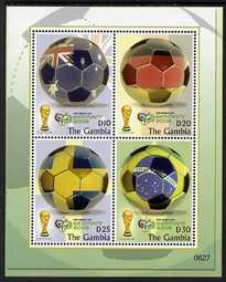 Gambia 2006 Football World Cup Championships perf m/sheet unmounted mint, SG MS4971