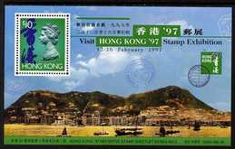 Hong Kong 1996 Hong Kong '97 Stamp Exhibition 2nd issue perf m/sheet unmounted mint, SG MS 827