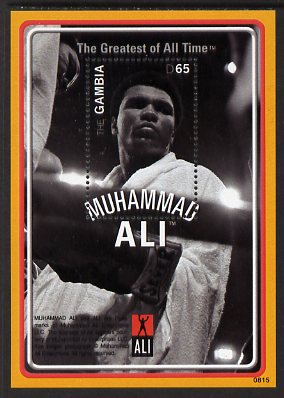 Gambia 2008 Muhammad Ali - The Greatest of All Time 65d perf m/sheet (Ali in robe) unmounted mint, SG MS5211b