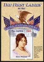 Gambia 2007 The First Ladies of the USA - Dolley Madison perf m/sheet unmounted mint SG MS 5098e